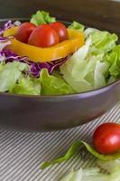 fundo vegetal / vegetal / vegetal no fundo da tigela foto