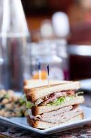 almoço sanduíche foto