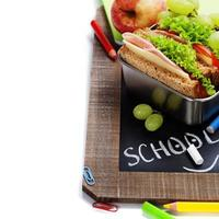 almoço escolar foto