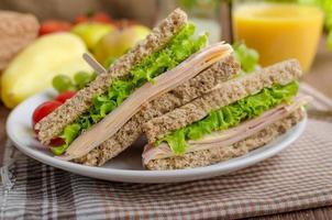 sanduíche de volta à escola