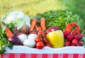 legumes orgânicos frescos foto