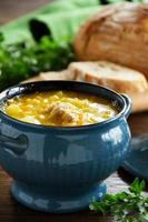 sopa de repolho russo tradicional. foto