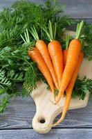 cenouras frescas com caudas verdes foto