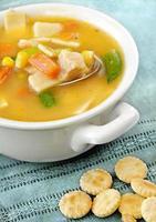 sopa de frango com vegetais foto