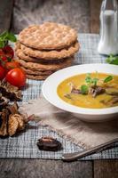 sopa de cogumelos vegetariana foto