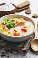 sopa de salmão foto