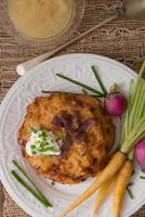 panquecas de batata para hannukah: latkes foto