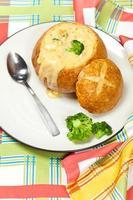sopa de brócolis e queijo foto