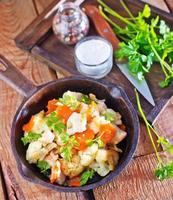 vegetais fritos foto