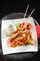 camarão rei tailandês foto
