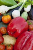 colheita de vegetais foto