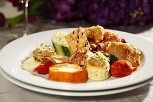 deliciosa comida gourmet foto