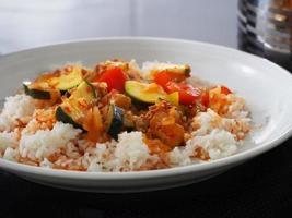 arroz e abobrinha foto