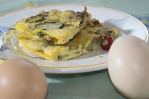 omelete com abobrinha foto