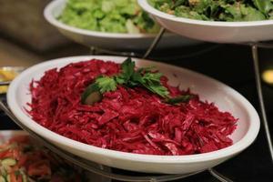 salada de beterraba vermelha foto
