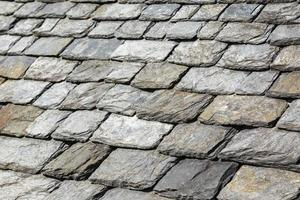 detalhe de telhas de rocha