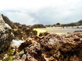 rocha vulcânica mexicana pré-hispânica foto