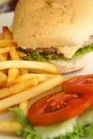 conjunto de hambúrguer ii foto