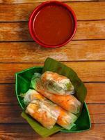 rolinhos primavera de bolacha do Vietnã foto