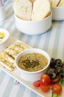 café da manhã libanês foto
