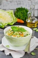 salada de repolho com pepino
