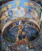 afrescos no mosteiro mirozhsky, pskov, rússia foto