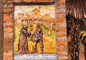 afresco dedicado ao abençoado católico foto