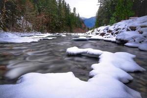 rio de inverno foto