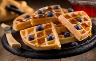 waffles de mirtilo foto