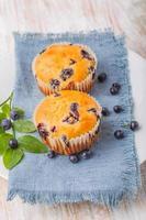 muffins de mirtilo caseiros foto
