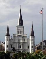st. catedral de louis, em jackson square nova orleães foto