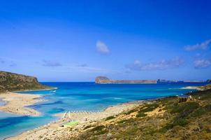 vista incrível sobre a lagoa de balos em Creta, Grécia