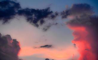 nuvens de tempestade de verão