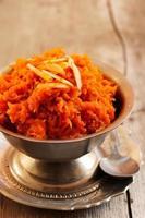 cenoura halwa - comida indiana foto
