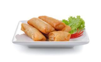 rolinho primavera chinês frito para aperitivo foto