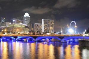 skyline de cingapura e rio de cingapura foto