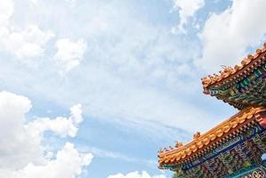 telhado do templo chinês