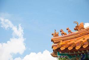 telhado do templo chinês foto