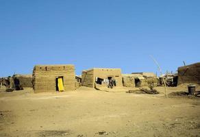 cabana feita de barro em omdourman foto