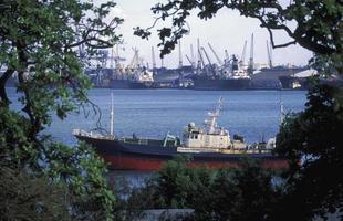 afrika tanzânia dar es salaam harbour foto