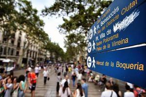 barcelona, espanha, rua foto
