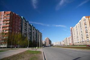 rua urbana em São Petersburgo foto