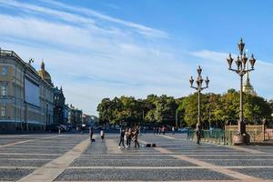 praça do palácio em st. Petersburgo, Rússia. foto