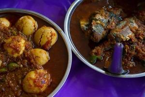 comida de rua de myanmar foto