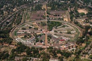 vista aérea da prisão de insein