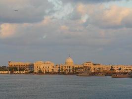 porto de alexandria egito foto