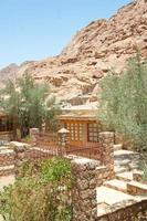Mosteiro de Santa Catarina nas montanhas do sinai, Egito foto