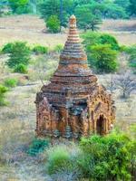 pagode em bagan (pagan), mandalay, myanmar