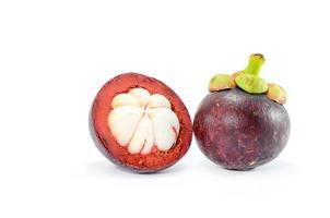 mangostão frutas frescas foto