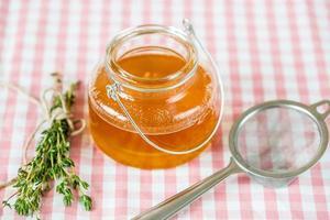 manteiga líquida clarificada de ghee foto